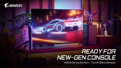 Los monitores de juegos 4K AORUS de GIGABYTE están listos para la nueva generación de consolas