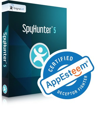 "SpyHunter 5 is certified as a ""Deceptor Fighter"" & ""clean"" application by the software review organization AppEsteem."