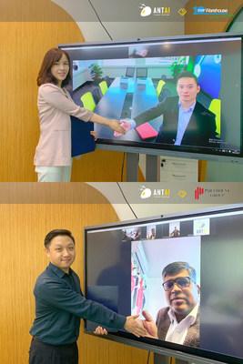 Ceremonia de firma de acuerdos en línea de Antaisolar (PRNewsfoto/Antaisolar)