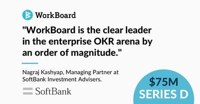 El fondo VisionFund2 de SoftBank lidera la ronda de SerieD de WorkBoard (PRNewsfoto/WorkBoard)
