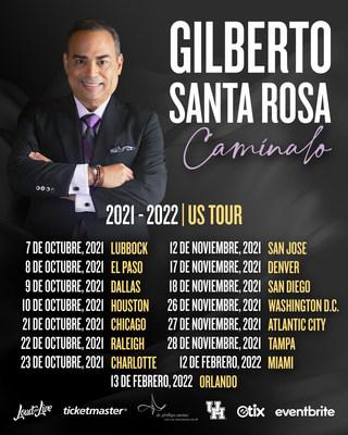 """Gilberto Santa Rosa """"Caminalo"""" US Tour Dates"""